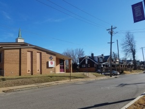 Salvation Army, Church, and Homes on Euclid in North St. Louis City