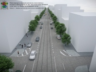 Visualisation of current streetscape бул. Княз Александър Дондуков (Courtesy of Sofia News)