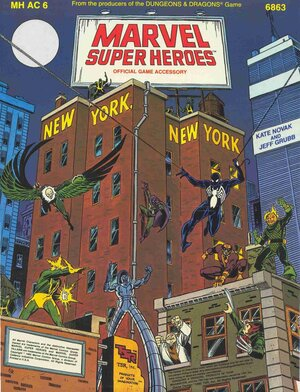 Cover illustration: Ron Frenz and Josef Rubinstein,  New York, New York  by Kate Novak and Jeff Grubb (1985) TSR Role Playing Game booklet